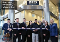 Opening Royal Bank of Scotland with Amir Khan