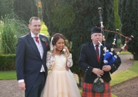 Bagpiper at a Wedding